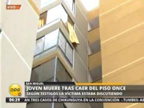 San Miguel: Muerte de joven que cayó desde un edificio es un misterio