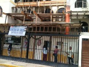 Surco: Obras en centro de salud del Minsa ponen en peligro a pacientes