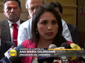 Solórzano convocó a Comisión Permanente para el 28 de enero