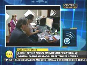 Jorge del Castillo presentó denuncia sobre presunto espionaje