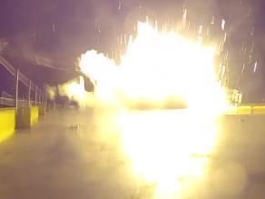 YouTube: Explosión de un cohete espacial en su regreso a la Tierra