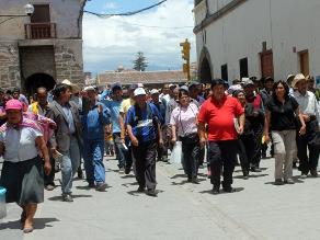 Ayacucho: más de 300 fonavistas marchan contra el cobro de aportes