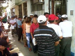 Cajamarca: fonavistas cobran sus aportes bajo la frase ´peor es nada´