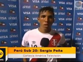 Selección peruana Sub 20: Sergio Peña confía en la clasificación