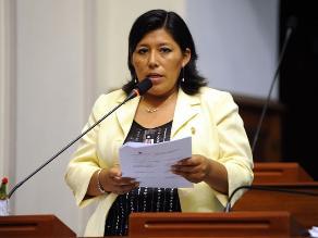 Natalie Condori exige renuncia de Ana Jara tras presunto reglaje