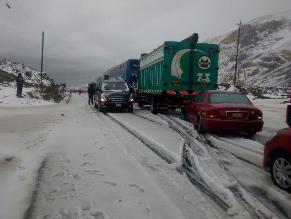 Huarochiri: Granizadas paralizan el tránsito vehicular en Ticlio