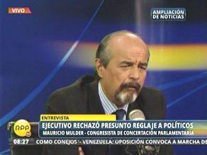 Mulder defiende valor noticioso de foto Nadine Heredia-Belaunde Lossio