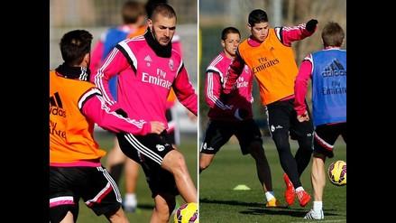 Real Madrid: James Rodríguez volvió a las prácticas pensando en Córdoba