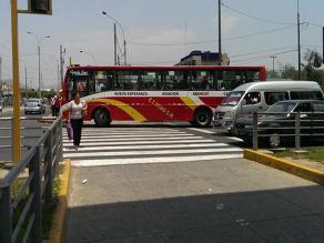 San Borja: Chofer de servicio público no respeta crucero peatonal