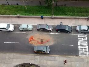Miraflores: hueco genera caos vehicular en Malecón Balta