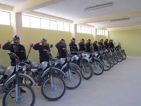 La Libertad: fortalecerán trabajo de la Policía con 100 motocicletas
