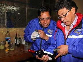 Arequipa: cierran bar cantina donde se vendía licor adulterado