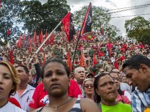 Chavismo marchó para respaldar al Gobierno