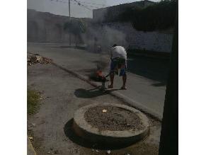 Denuncian quema de basura en el distrito de Bellavista
