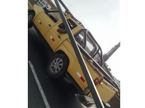 Los Olivos: Conductor transporta objeto peligroso