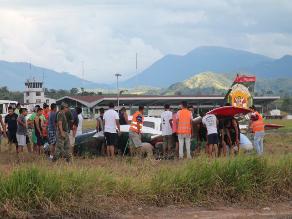 Tarapoto: avioneta policial realiza aterrizaje de emergencia