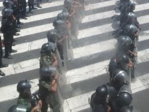 Ley Jóvenes: Marcha se detuvo en la avenida Abancay
