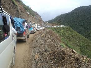 La Oroya: tránsito a Junín restringido por despiste de camión