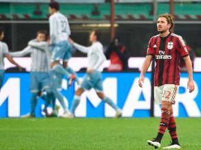 Milan pierde 1-0 ante la Lazio queda eliminado de la Copa Italia