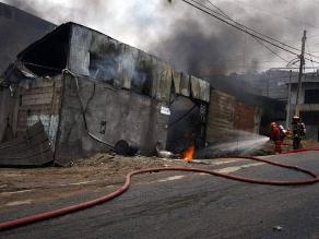 EsSalud brindará atención a bomberos heridos en incendio de VMT