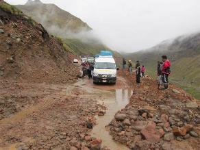 Apurímac: deslizamientos en Chincheros afectan a transportistas