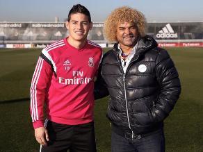 Real Madrid: James Rodríguez se reunió con su ídolo el