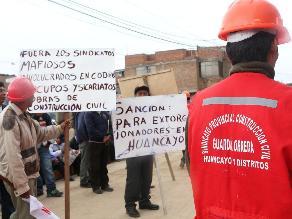 Huancayo: obreros piden denuncia penal a presuntos extorsionadores