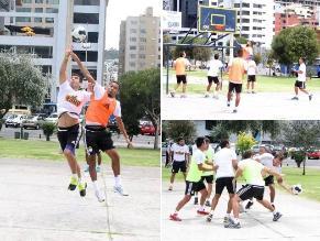 Sporting Cristal: Celestes jugaron básquet antes de duelo con LDU en Quito