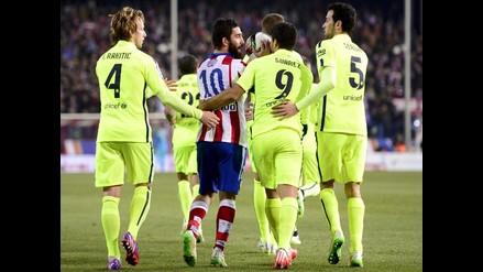 Atlético de Madrid vs. Barcelona: mira la bronca en el entretiempo