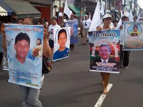 Loretanos marcharon por la paz buscando frenar ola de asesinatos