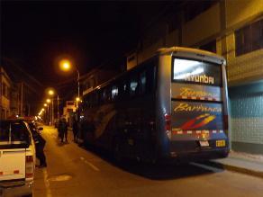 Huaura: ocho sujetos asaltan bus interprovincial en marcha