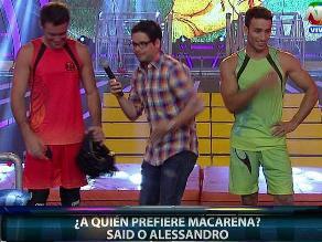 Combate: Said y Alessandro bailarán por el amor de Macarena Vélez