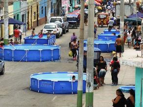 Callao: Piscinas armables impiden circulación de vehículos