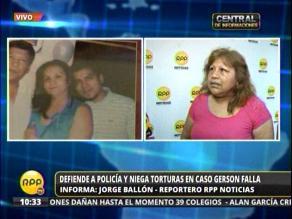 Caso Gerson Falla: Hermana de Policía involucrado niega tortura