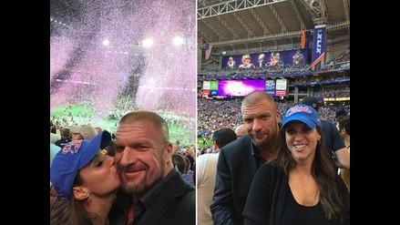 Triple H y Stephanie McMahon vivieron la fiesta del Super Bowl