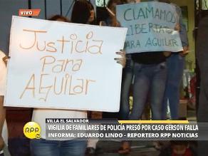 Caso Gerson Falla: Familiares de policía involucrado realizan vigilia