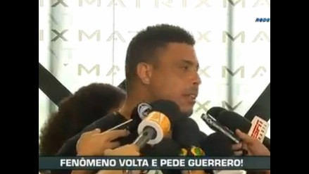 Ronaldo pide la renovación de Paolo Guerrero con el Corinthians