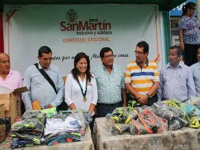 San Martín: ministra de la Mujer visita comunidades afectadas por desbordes