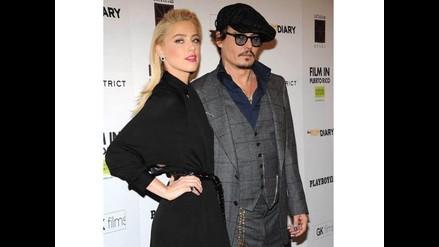 Johnny Depp emocionado a pocos días de su boda con Amber Heard