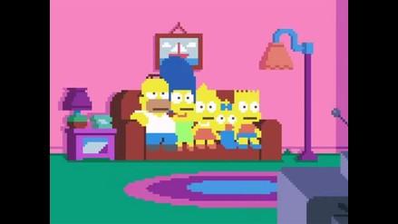 YouTube: Los Simpson en píxeles causan sensación