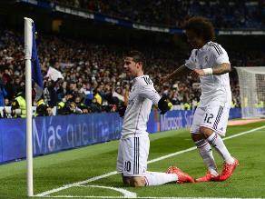 Real Madrid venció 2-1 a Sevilla y James Rodríguez salió lesionado