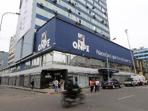 ONPE: Sin reforma electoral persiste riesgo de dinero ilícito en campañas