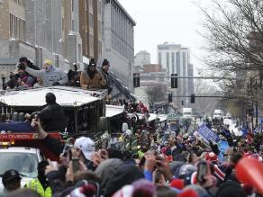 Super Bowl: Miles desafiaron al frío para festejar con los Patriots