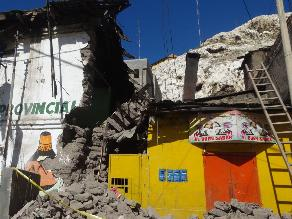 La Oroya: cinco familias resultan damnificadas tras derrumbe