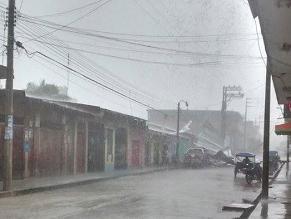 San Martín: Fuertes vientos arrancan techos en Tocache