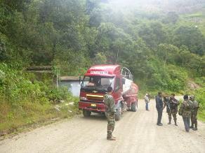 Ayacucho: inmovilizan cisterna que cargaba combustible en el Vraem