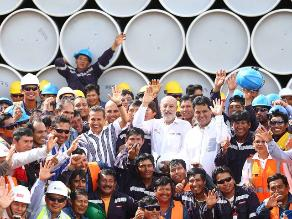 MEM: Llegada de lote de tubos a Camisea hace realidad Gasoducto Sur Peruano