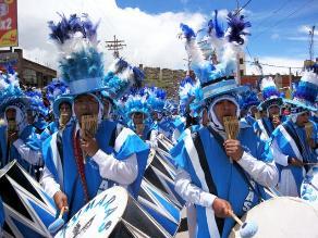 Puno: bandas son recibidas para festividades de la Virgen de la Candelaria