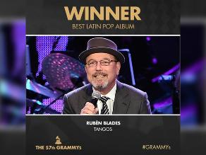 Grammy 2015: Rubén Blades ganó premio a mejor álbum latino pop