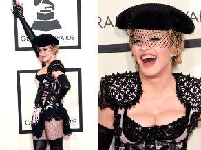 Madonna llegó a los Grammy 2015 como una sexy torera